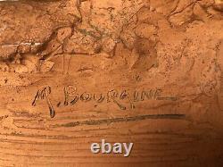 Marcel Andre Bouraine Nu Test Terre Cuite Signe Et Date Art Deco 1945 G589