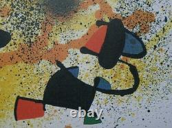 Miro Joan (after) Sculpture II Lithography Numbered And Signed, 500ex