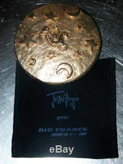 Mirror Antique Pocket Jean Signed Boggio For Air France Passage For The Year 2000