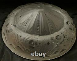 Muller Brothers Old Caper Glass Art Deco Chandelier Signed