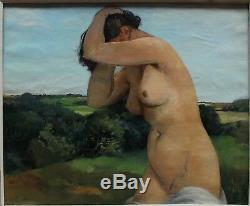 Nude Woman In A Landscape, Jean Joveneau (1888-)
