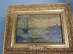 Oil On Marine Panel Signed At The Bottom Right Roko
