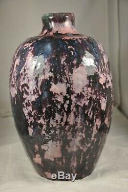 Old Art Deco Vase Gres Sign Mougin Nancy Antique Vase