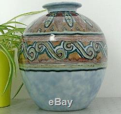 Old Art Deco Vase Porcelain Limoges Enamels Ceramic Signed Camille Tharaud