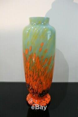 Old Art Deco Vase Signed 1930 Schneider