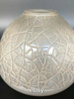 Old Art Deco Vase Signed André Hunnebelle Glass Block Art Deco Lalique Sabino