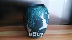 Old Ceramic Vase Signed I. Sena N ° 36/2000