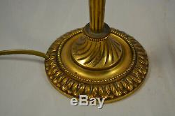 Old Pair Of Lamp In Bronze And Glass Paste Sign Degue Dlg Daum Galle