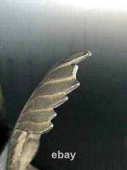 Old Sculpture Serre Book Vulture Signed Max The Verrier Art Deco Booken