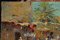 Orientalist, Moroccan Village 1927 Marius Hubert-robert (1885-1966)