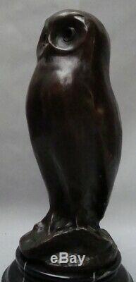 Owl Statue Owl Bird Animal Style Art Deco Bronze Massive Sign