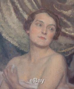 Painting Fernand Bivel (1888-1950) To 1915 Woman At Her Toilet