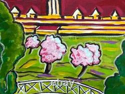 Painting Painting Kris Milvy Art Deco Golf In Normandy Deauville 60 X 60 CM