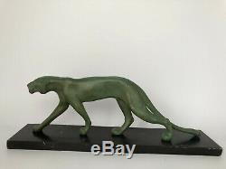 Panther Art Deco Marti Font Regule Patina Green Marble Pedestal C2522 Black 1930
