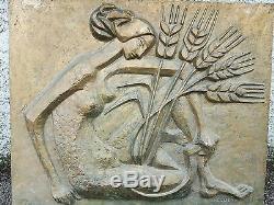 Plate Cast Iron Period Art Deco Sign M. Quellier
