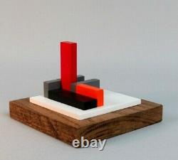 Polychrome Wood Sculpture Abstraction Neoplasticism Signee Numerotee (11)