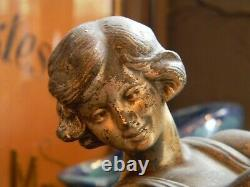 Pose Lamp Art Deco Woman At The Ball In Regular Signed Carlier