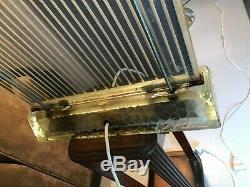 Radiator Art Deco Sign Saint Gobain Glass Rene Coulon Lamp Chandelier Muller