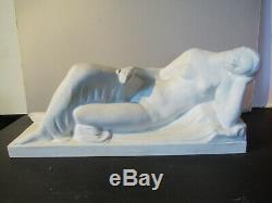 Raoul Lamourdedieu. Sevres. 1930 Art Deco 45cm. Woman Asleep