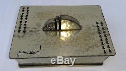 Rare Art Deco Tin Dinner Box Signed And Numbered René Delavan
