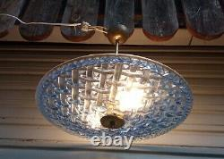 Rare Ceiling / Chandelier Art Deco In Working Order Signed Degué 1939
