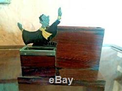 Rare Cigarette Box Table Lawyer Art Deco Signed Sudre Restore