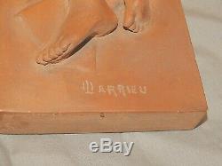Rare Nude, Terracotta Art Deco Sculpture Signed Octave Larrieu (1881-1965)