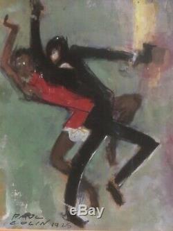 Rare Paul Colin (1892-1985) Le Bal Negro Gouache Signée- 1925
