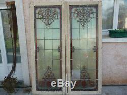 Rare Renaissance Stained Glass Windows Signed Joseph Vantillard Nineteenth Ems