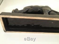 Rare Sculpture Ceramic Period Art Deco 1930 Panthere Signed