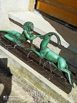 Regular Patina Bronze Seduction Signed Fayral (pierre Le Faguays) 1930 Art De De