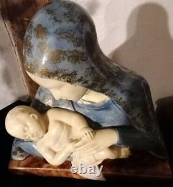 Religious Terracotta Signed Bullet Montard Art Déco Ttbe