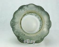 René Lalique Rare Vase Domrémy Thistles Glass Satin Satin Signed Art Deco