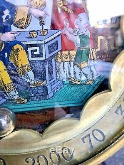 Roulette Counter Under Glass Signed Vincent