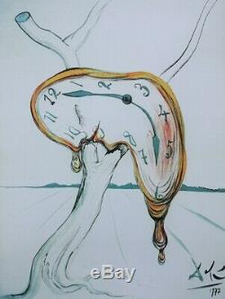 Salvador Dali Soft Watch Lithographie Numbered And Signed, 500ex