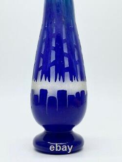 Schneider The French Glass Vase Chicorée Signed At The Berlingot Era Art Deco