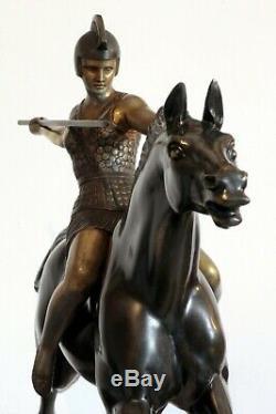 Sculpture Armand Lemo Art Deco Warrior Goddess Warrior Goddess