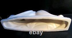 Sculpture Art Deco Ceramics Signed Cracked White Dax Les Colombes