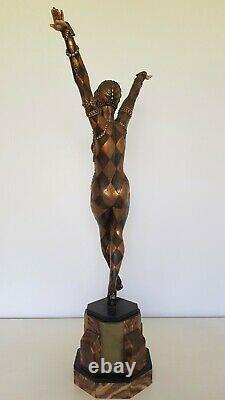 Sculpture Art Deco En Regul Dancer Of Russian Ballets, Signed