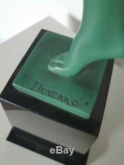 Sculpture Art Deco Statue Signed Derenne Max The Glassmaker