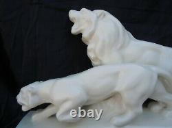 Sculpture Statue Lion Lion Roaring Levallois François Sainte Radegonde