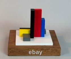 Sculpture Wood Polychrome Abstraction Neoplasticism Signed Numbered (8)