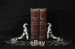 Serres-book Silvered Bronze In 1925 Signed Maurice Frécourt / Bookend 1925