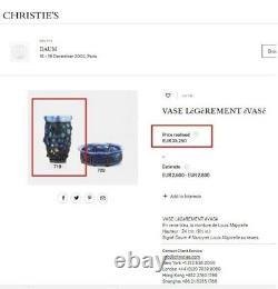 Signed Daum Majorelle Superb Quality Vase Exceptional Art Deco No Galle