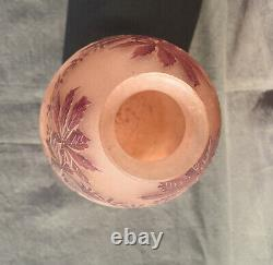 Signed Vase Legras Cleared A Lacide Art Deco And Frosted H 31 CM