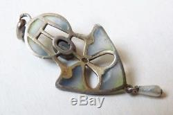 Silver Plated Pendant By Karl Hermann Antique Necklace