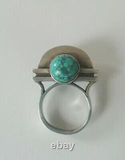 Silver Ring Art Deco Signed Jean Despres