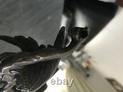 Statue Art Deco Mascot Automobile Silver Metal A Sioux