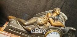 Statue Fireplace Decoration Art Nouveau / Deco Signed Seca France Pendulum