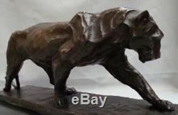 Statue Panther Style Art Deco Art Nouveau Bronze Massive Sign
